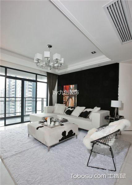 现代风格120平米三房两厅新房装修效果图