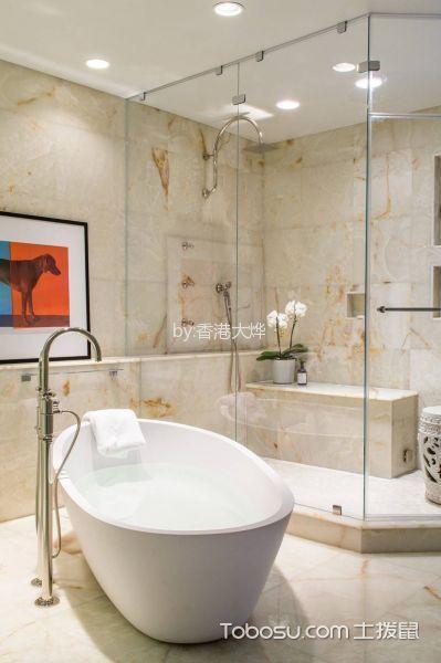 卫生间白色吊顶简约风格装饰设计图片