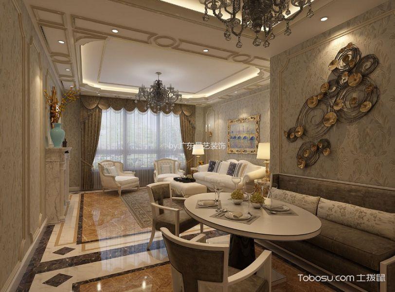 法式风格200平米四室两厅室内装修效果图
