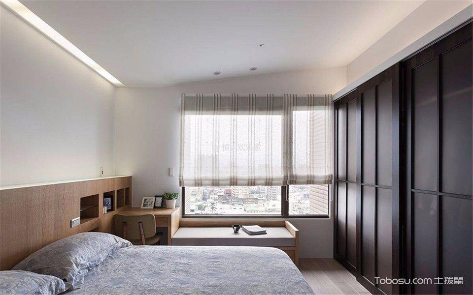 卧室白色吊顶北欧风格装潢设计图片