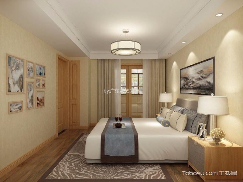 新中式风格180平米三室两厅室内装修效果图