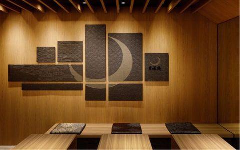 餐厅背景墙日式风格装修效果图