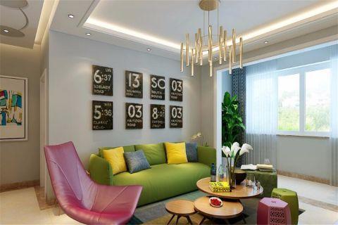 混搭风格115平米楼房房子装饰效果图