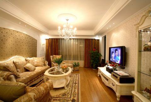 欧式田园风格140平米四室两厅室内装修效果图