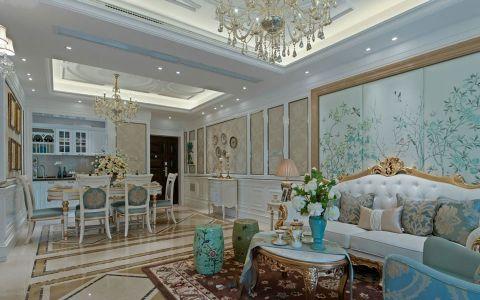 法式风格250平米别墅室内装修效果图