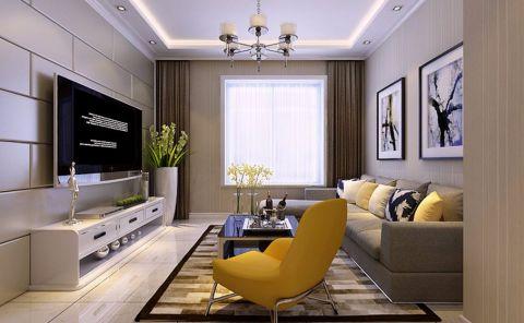 现代简约风格88平米2房2厅房子装饰效果图