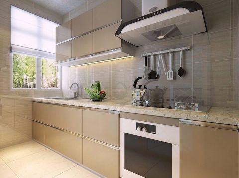 厨房米色背景墙现代简约风格装饰效果图