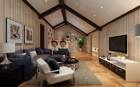 2018现代简约客厅装修设计 2018现代简约阁楼设计图片