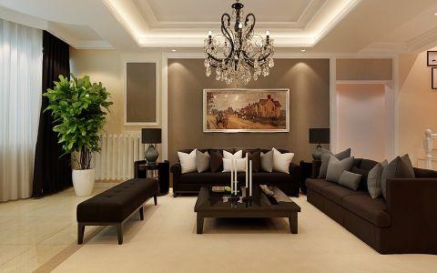 现代简约风格170平米别墅房子装饰效果图