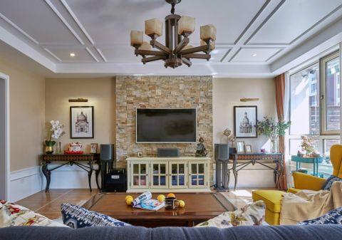 美式风格176平米大户型房子装饰效果图