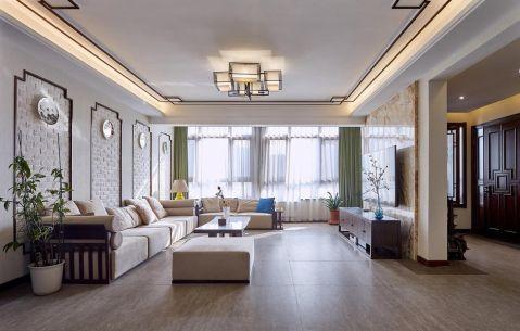 中式风格160平米大户型房子装饰效果图