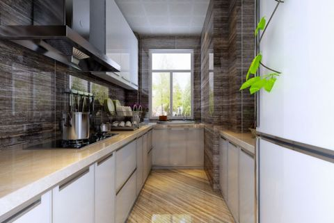 厨房白色吊顶现代风格装饰图片
