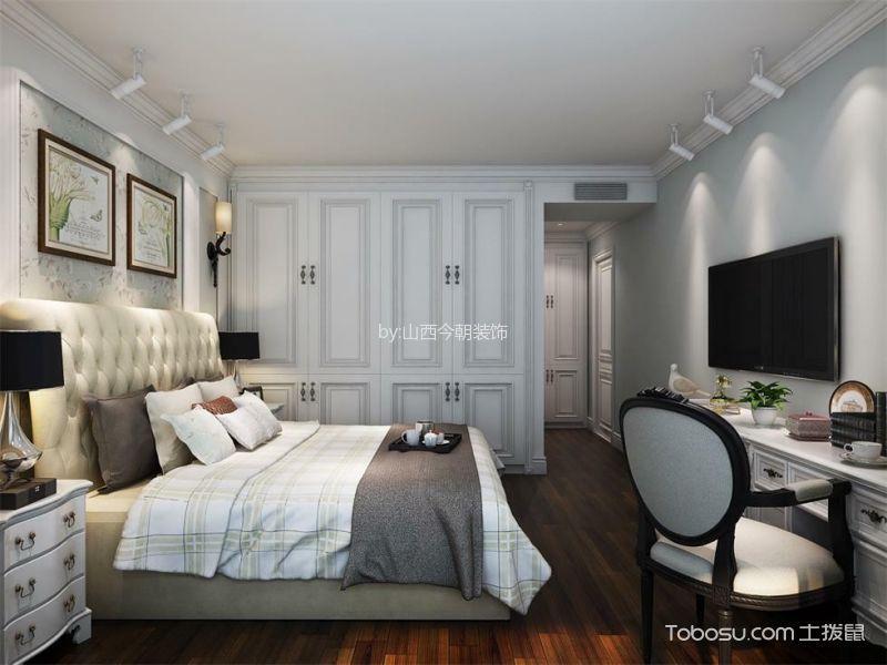 卧室米色背景墙简欧风格装修效果图