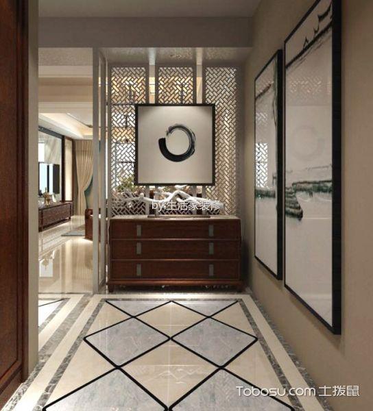 玄关米色走廊新中式风格装潢效果图
