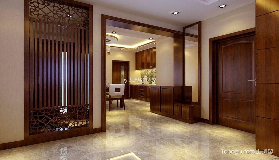 玄关米色走廊新中式风格装潢图片