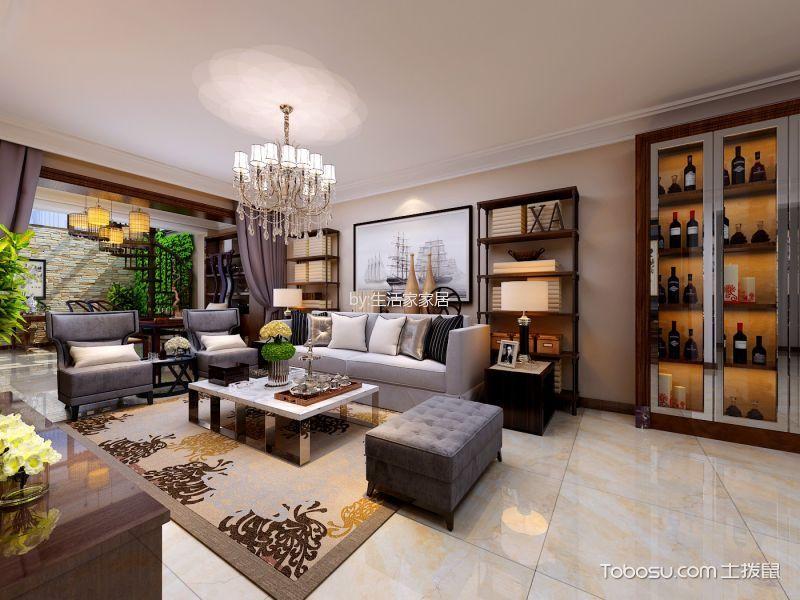 现代风格250平米别墅室内装修效果图