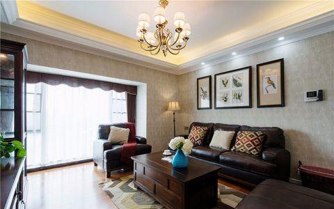 美式风格180平米三室两厅室内装修效果图