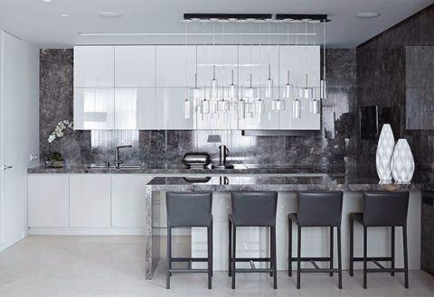 厨房吊顶现代简约风格装饰效果图