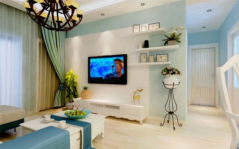 地中海风格120平米大户型房子装饰效果图