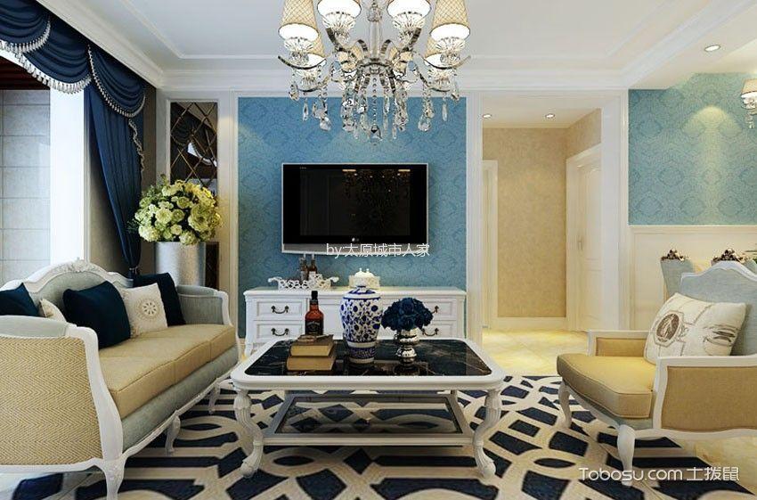 幸福里二居室简欧风格设计
