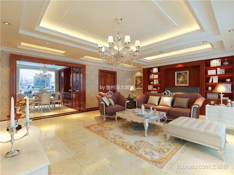 欧式风格170平米3房2厅房子装饰效果图