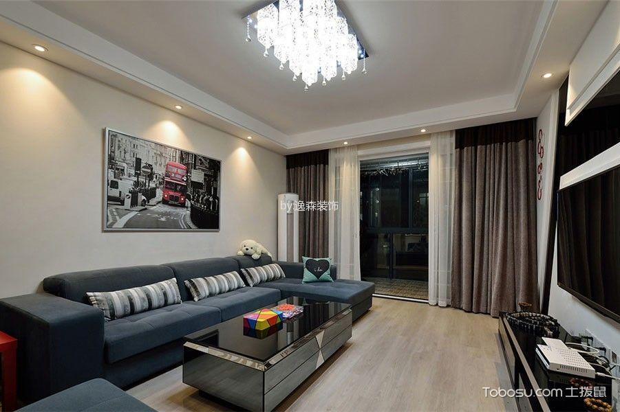 现代简约风格111平米三室两厅室内装修效果图