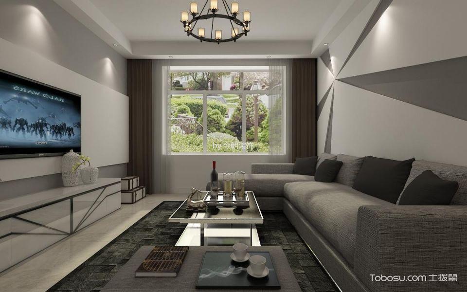 90平北湾新城两居室现代简约风格装修案例图