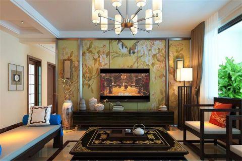 华润城·紫云府165平米新中式装修风格案例