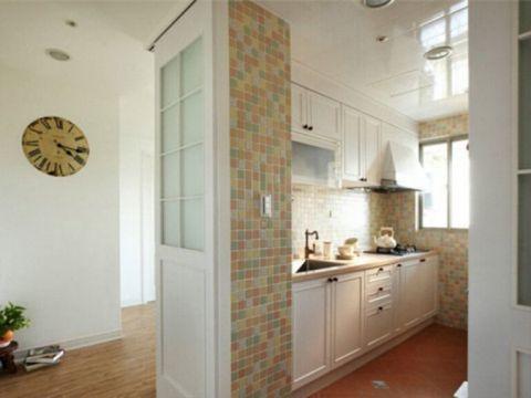 厨房白色橱柜田园风格装饰设计图片