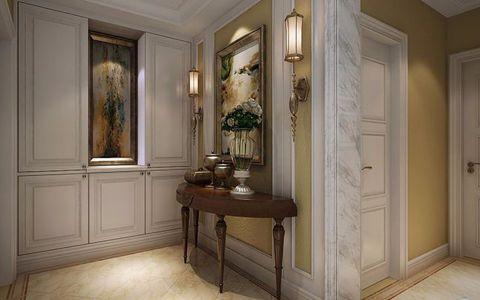 玄关米色背景墙美式风格装修设计图片