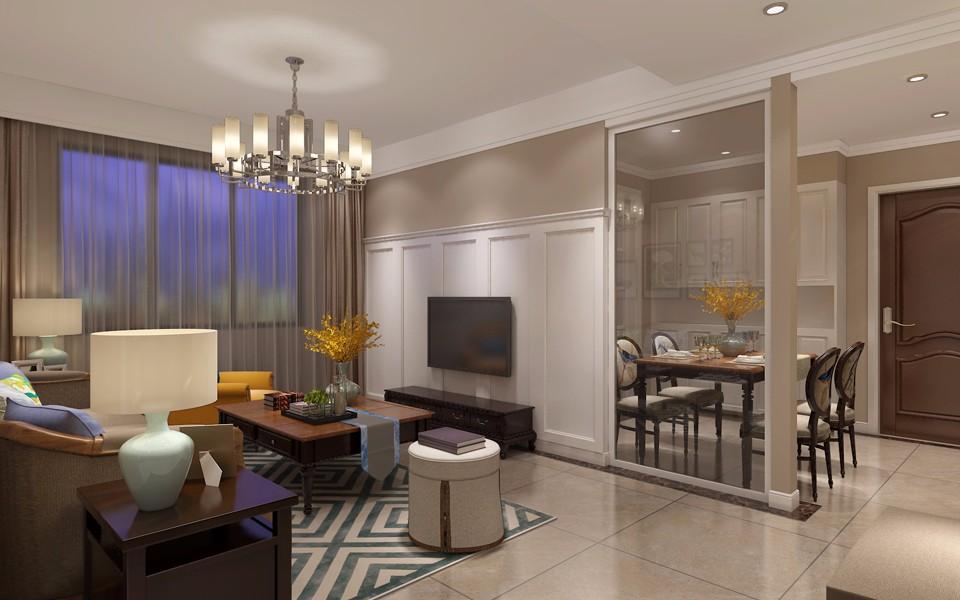 2室1卫2厅100平米简欧风格