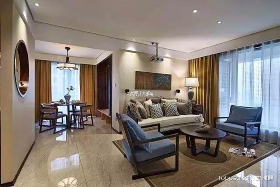中式风格148平米三房两厅新房装修效果图