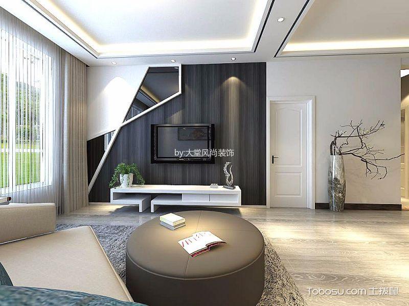 后现代风格110平米三房两厅新房装修效果图