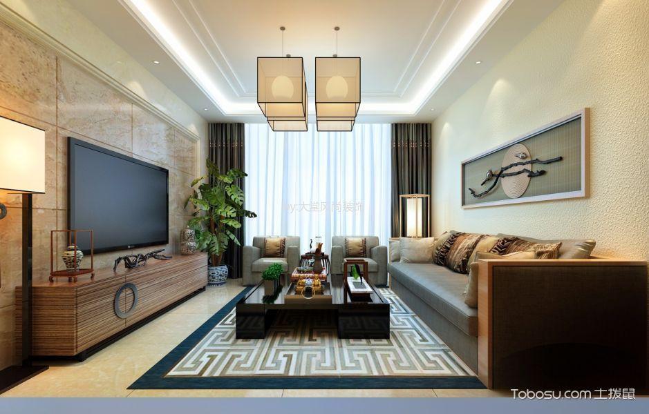 简约风格134平米三房两厅新房装修效果图