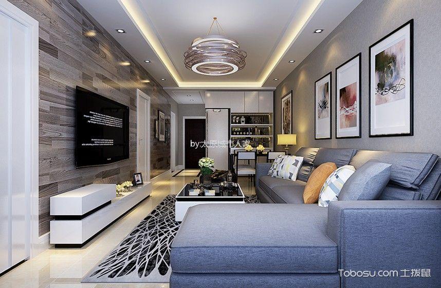 现代简约风格119平米3房2厅房子装饰效果图