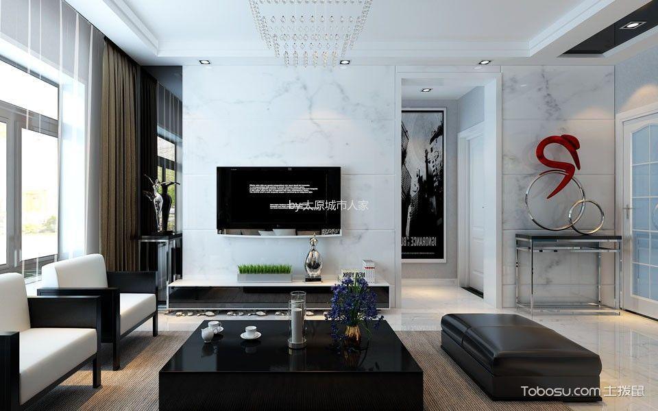 阳光揽胜106平米现代简约三居室装修效果图