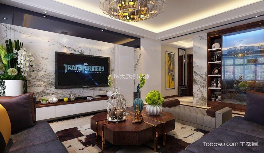 西部丽景四居室现代简约风格效果图装修设计