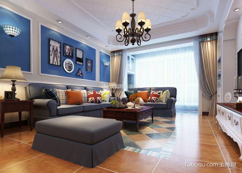 现代简约风格80平米三房两厅新房装修效果图