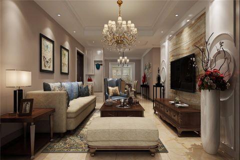 简欧风格100平米三室两厅室内装修效果图