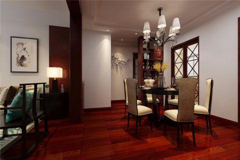 金葡萄家园新中式风格三居室装修效果图