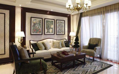 美式风格137平米四室两厅室内装修效果图