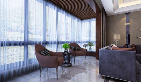 阳台白色窗帘现代风格装修设计图片