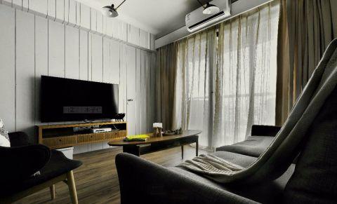 鑫苑国际90平米简约二居室装修效果图