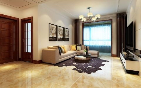 简约风格90平米小户型房子装饰效果图