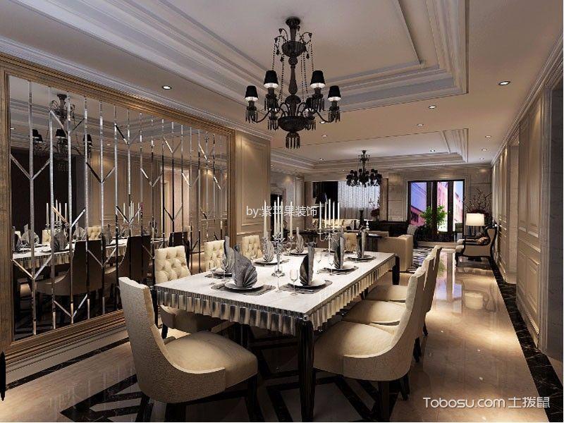 欧式风格180平米四房两厅新房装修效果图