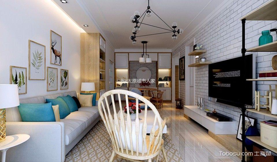 北欧风格110平米3房2厅房子装饰效果图