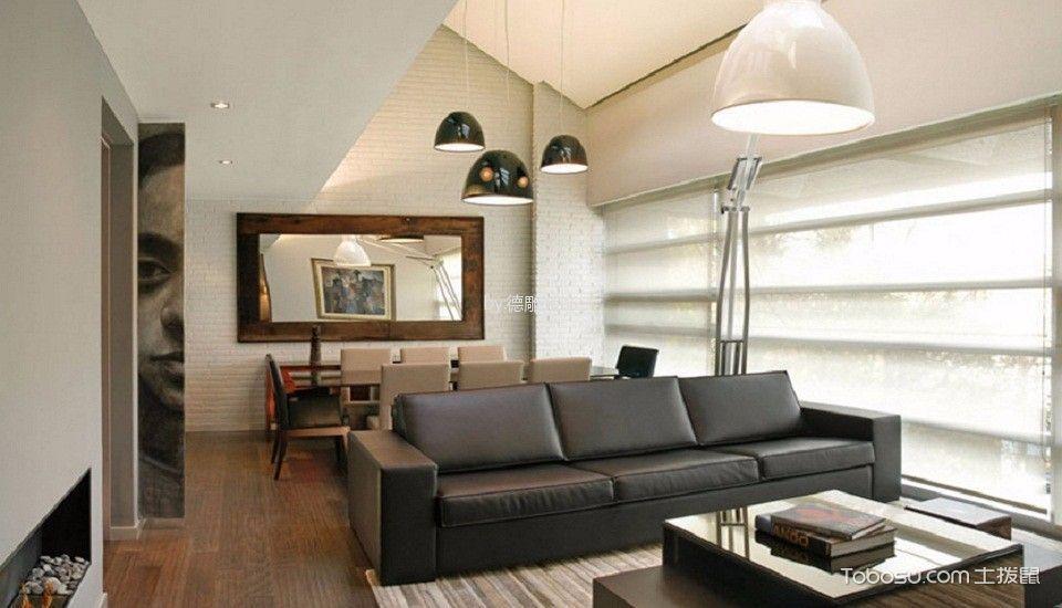 现代简约风格90平米小户型新房装修效果图