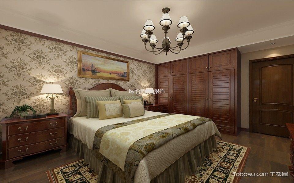 卧室咖啡色衣柜欧式风格装潢图片