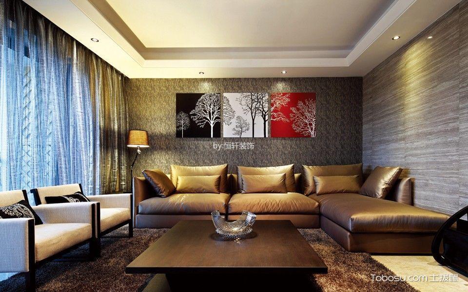 简约风格134平米3房1厅房子装饰效果图