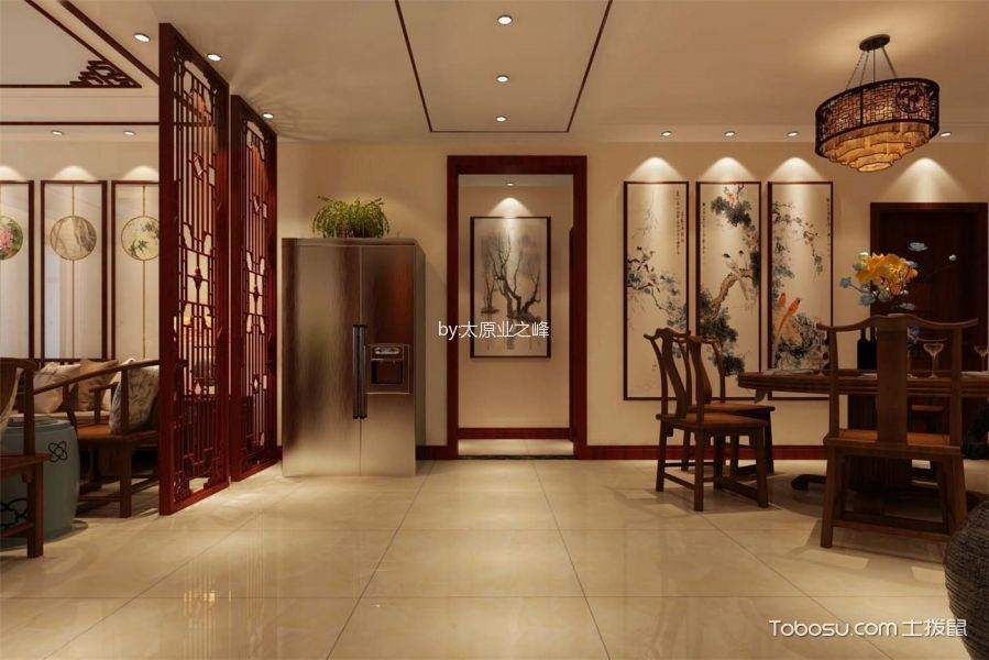 玄关米色走廊新中式风格装修设计图片